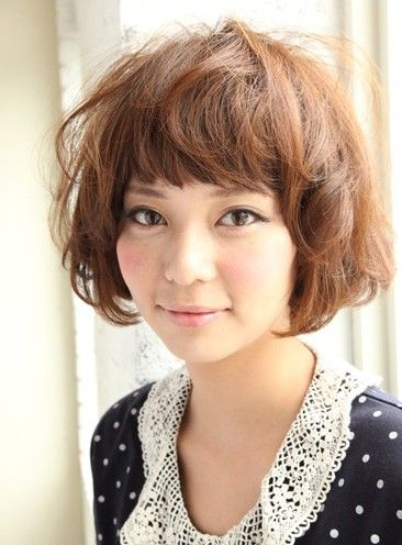 Short Curly Japanese Hairstyle For Women Japanese