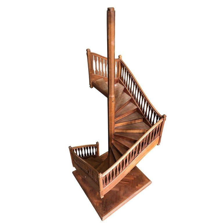 Best 19Th Century Miniature Antique Spiral Staircase 400 x 300