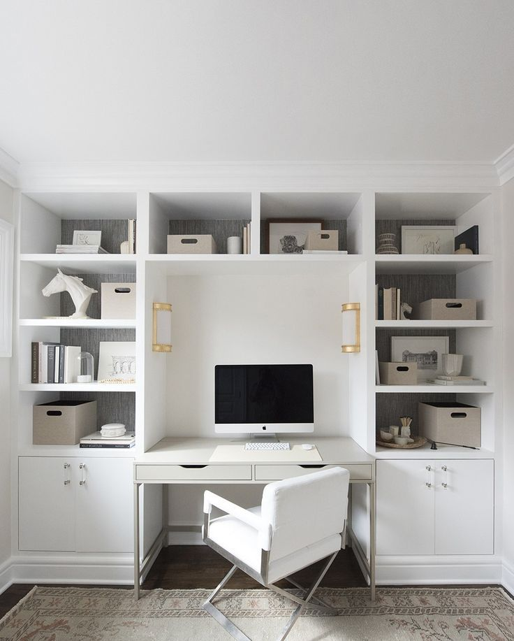 DIY Built-Ins and Office Organization images