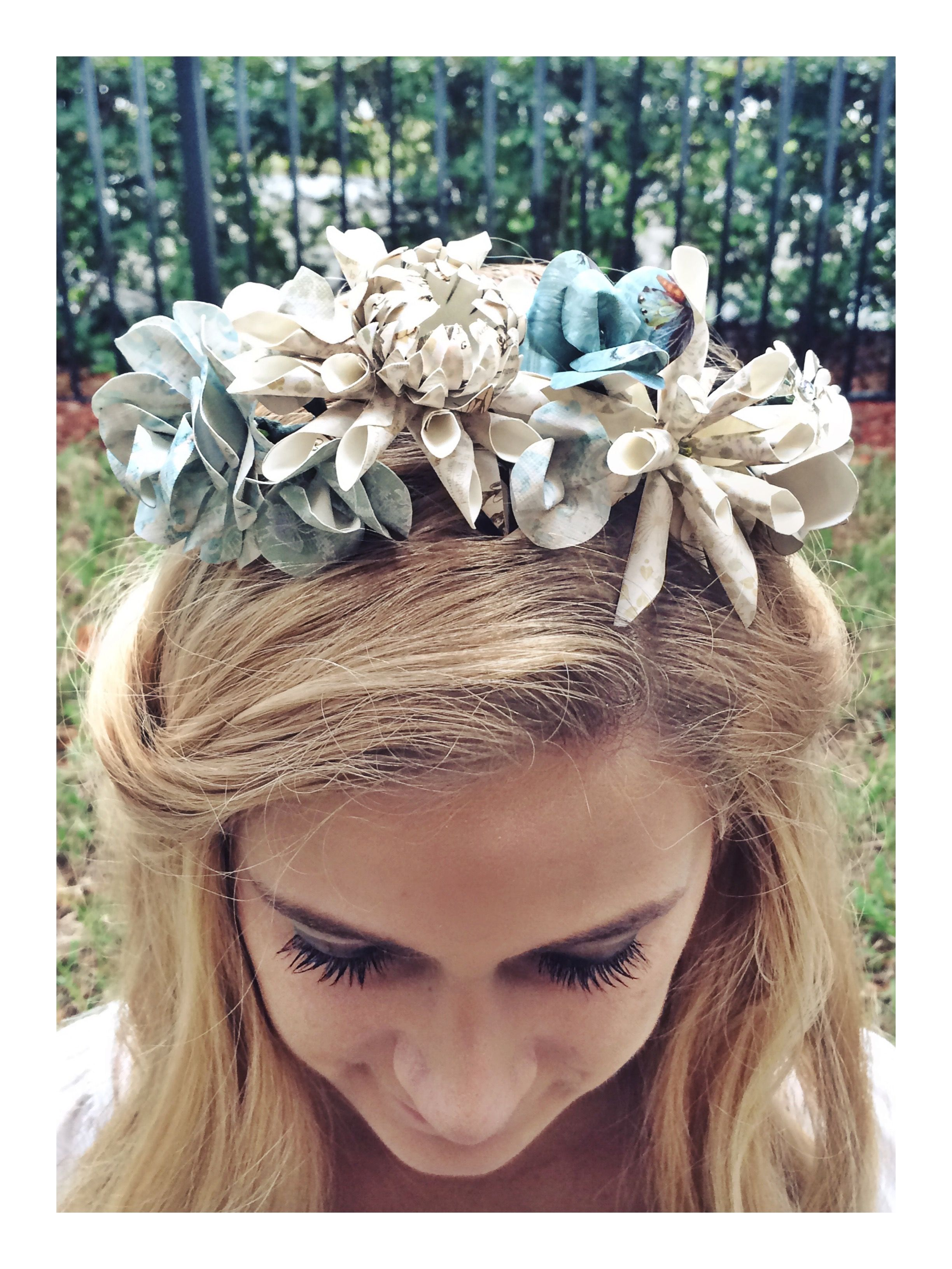 Through the looking glass floral crown floral crown crown and handmade through the looking glass floral crown 25 izmirmasajfo