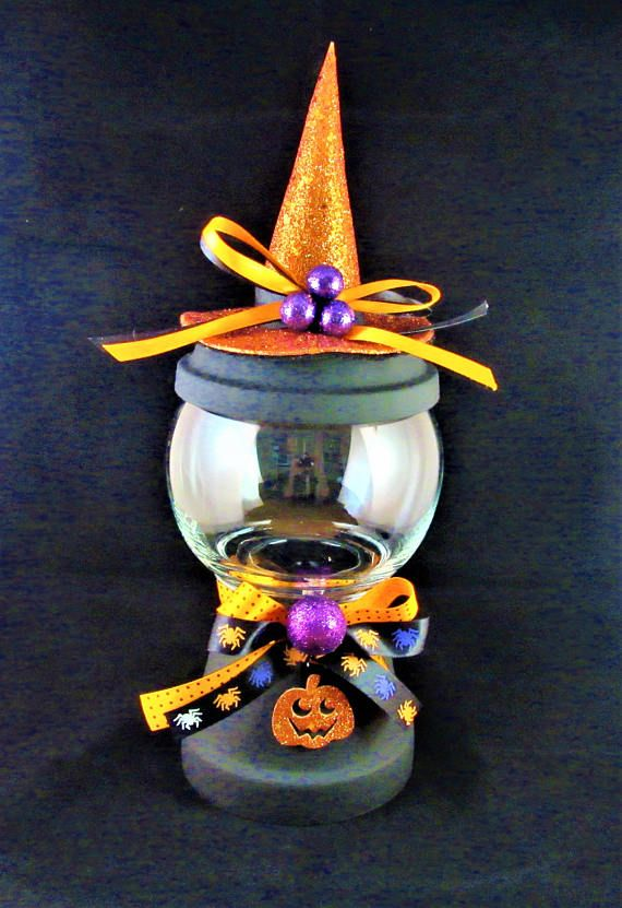 Witch Hat Halloween Candy Jar ! $1650 Halloween Pinterest - halloween decorations witch