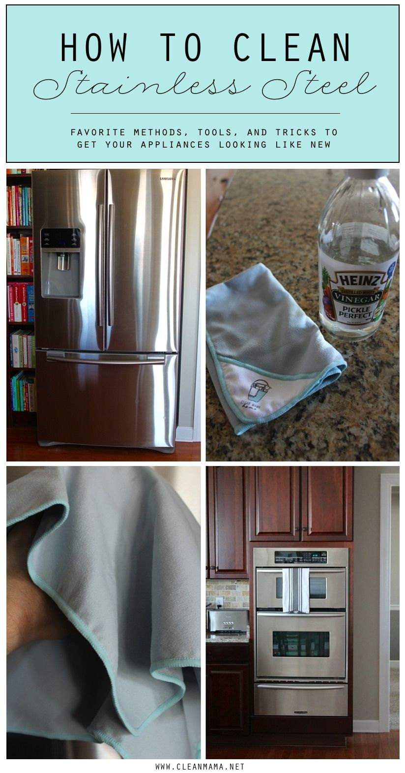 How To Clean Stainless Steel Appliances Cleaning Stainless Steel Appliances Cleaning Hacks House Cleaning Tips