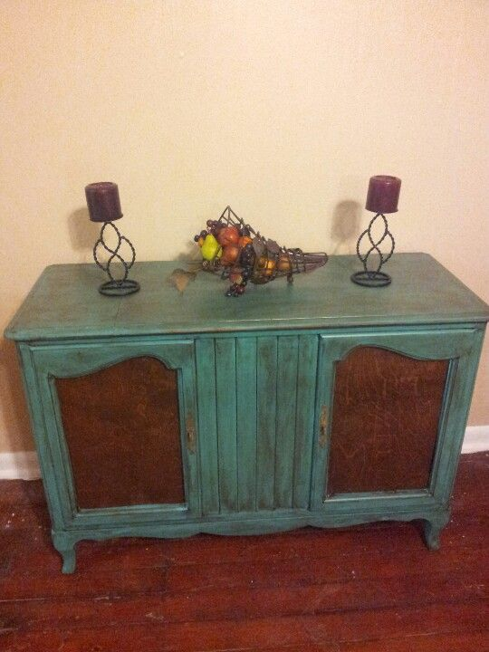 Old Stereo Cabinet Redo Would Be Neat For Tv Console In