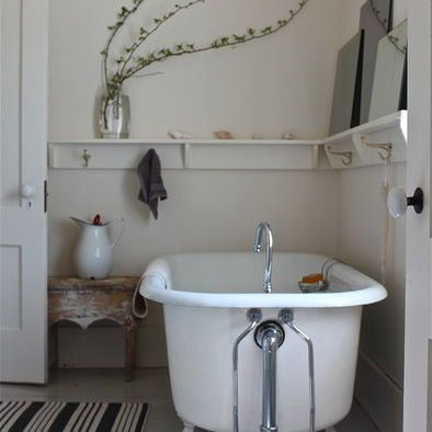 Bathroom Shelf For The Home Pinterest Shelves Traditional - Putting a shower in a small bathroom