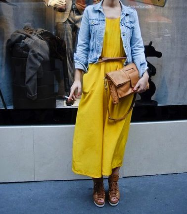 yellow + jeans