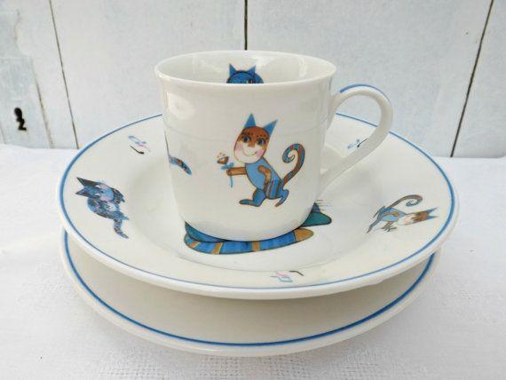 Children Cat Dinnerware Set | kids dinnerware & silverware ...