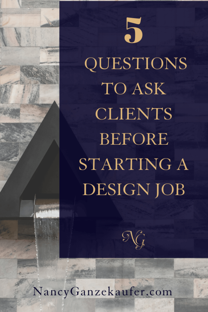 interior design questions to ask clients