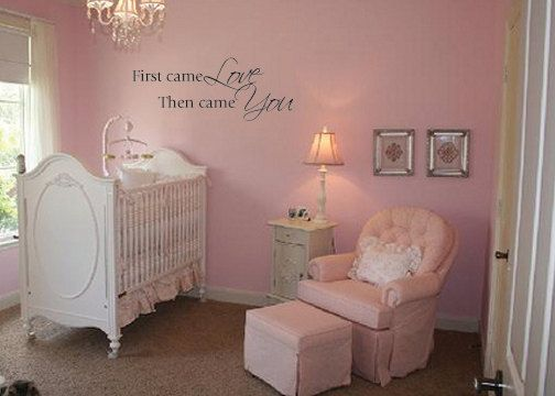 First Came Love Then Came You Wall Decal And Very Cute Little Girl Nursery Couch Design Vinyl Wall Decals Wall Decals