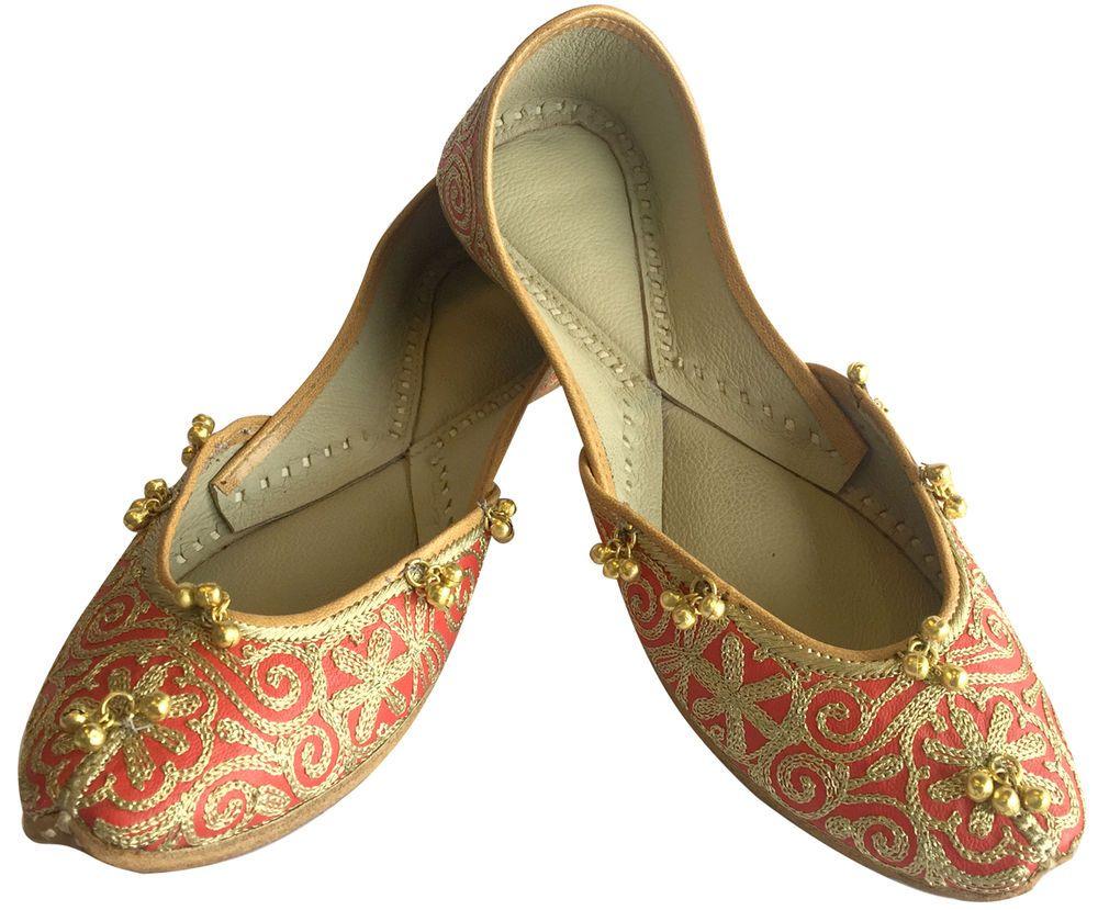 Women Khussa Shoes Jutti Handmade Mojari Slip on Sandals Flat Ballet