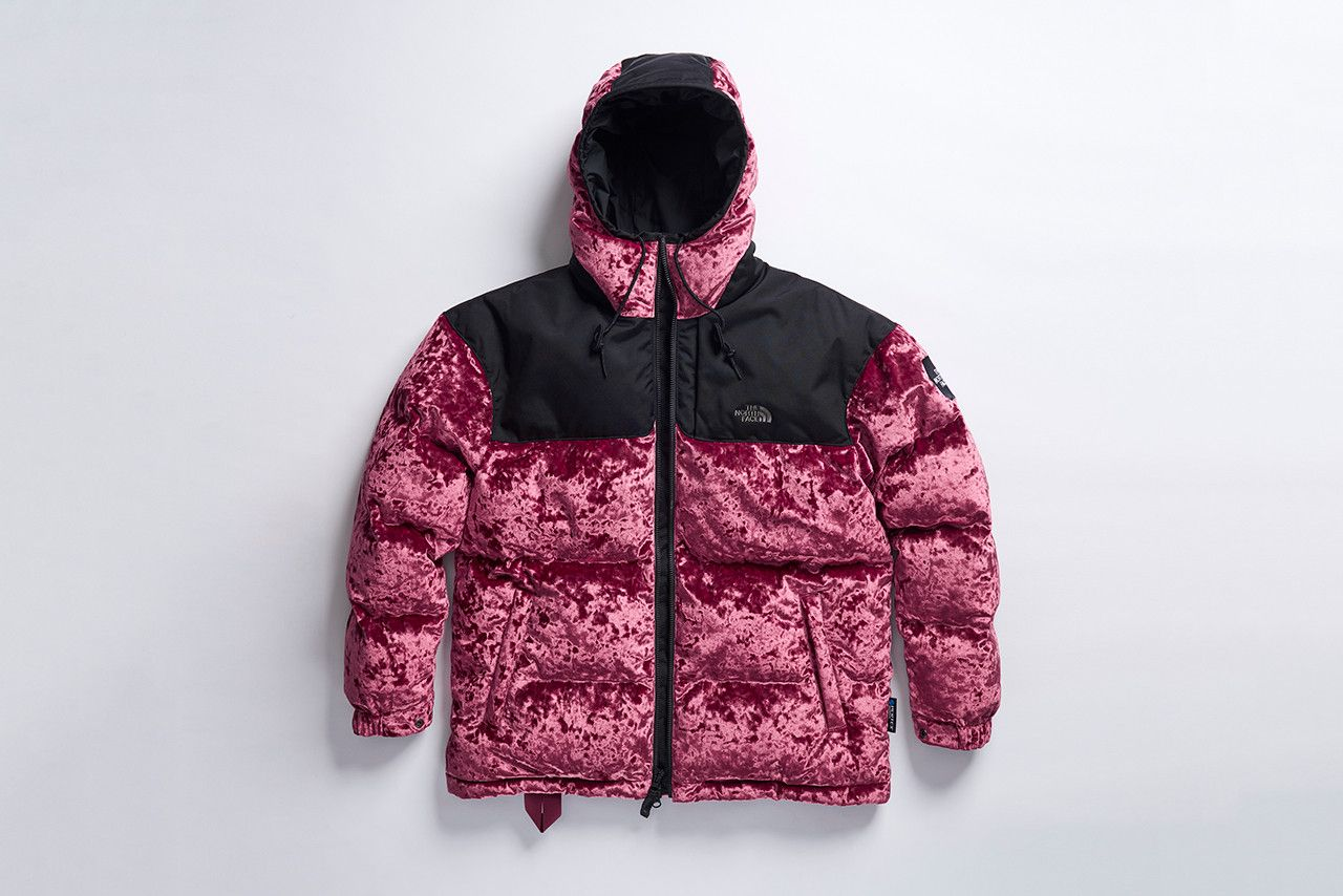 The North Face Black Series Warms Up With Velvet Layering Pieces Black North Face North Face Puffer Jacket Girls Jacket [ 854 x 1280 Pixel ]