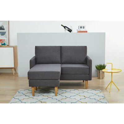 Best Wrought Studio Everalda Sofa With Chaise Couch Loveseat 640 x 480