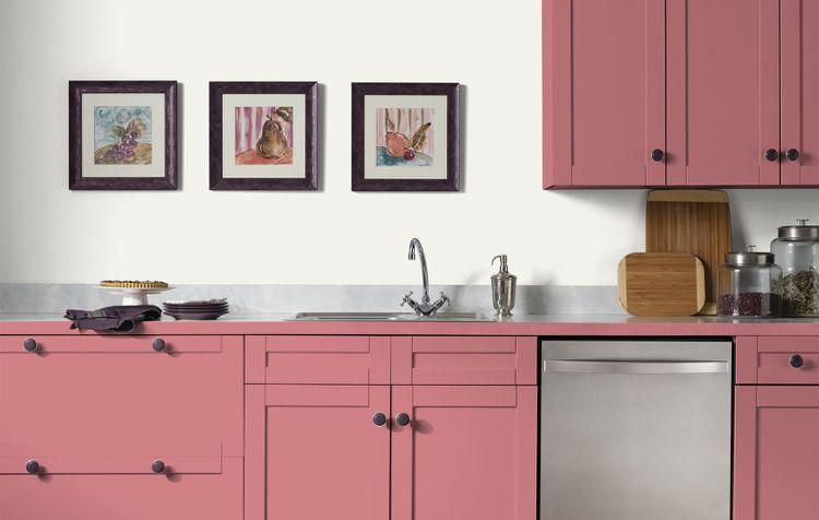 Küche in Pastell pink pastellrosa modernes design simpel - küche landhausstil ikea