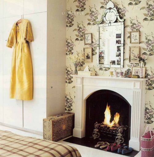 An Inspirational Image From Farrow And Ball India Yellow Sets Off The Cast Iron Fireplace Pavilion Gray Worste Pavilion Grey Cast Iron Fireplace Farrow Ball
