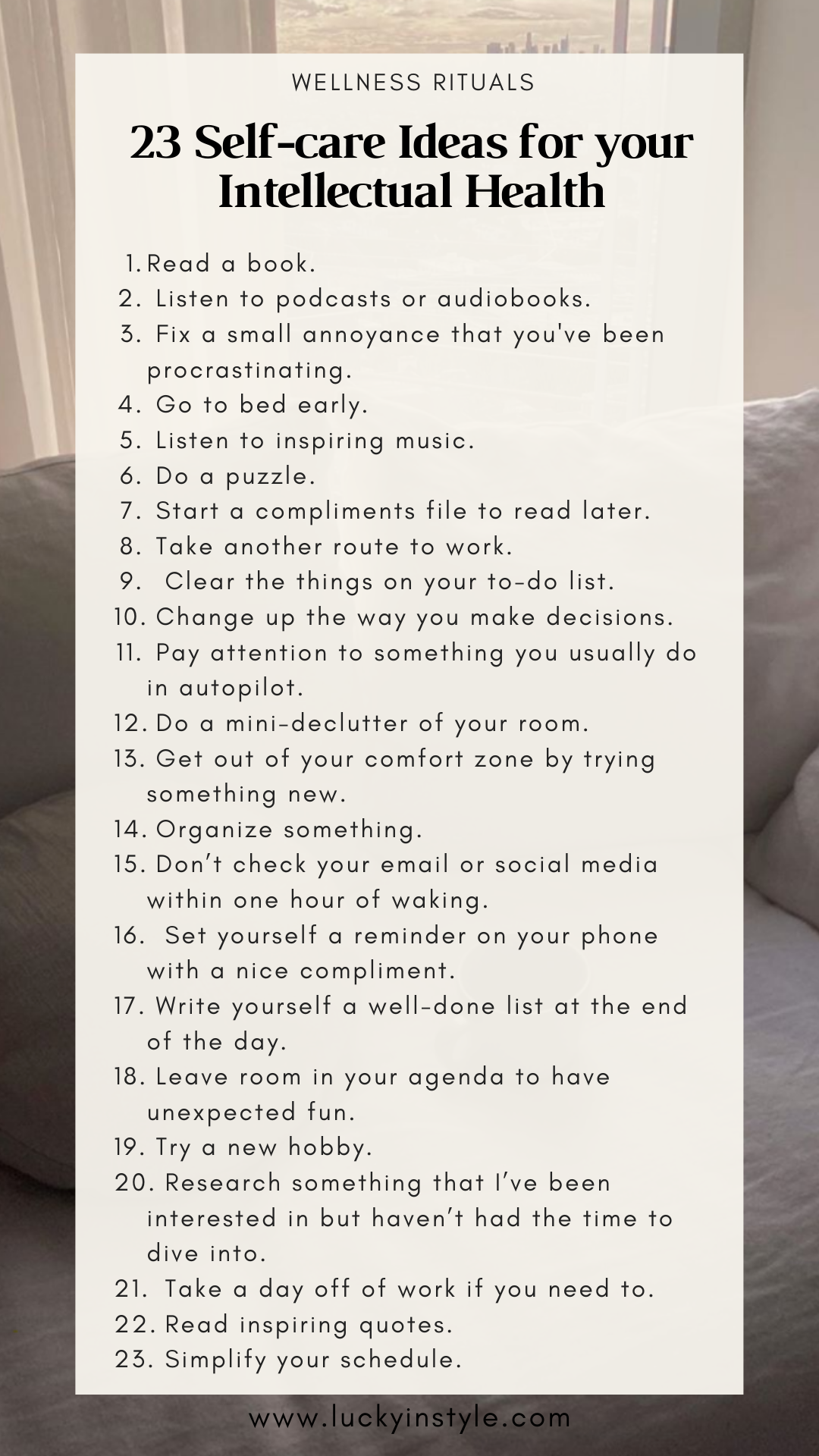 104 Selfcare Ideas To Start Your Wellness Routine