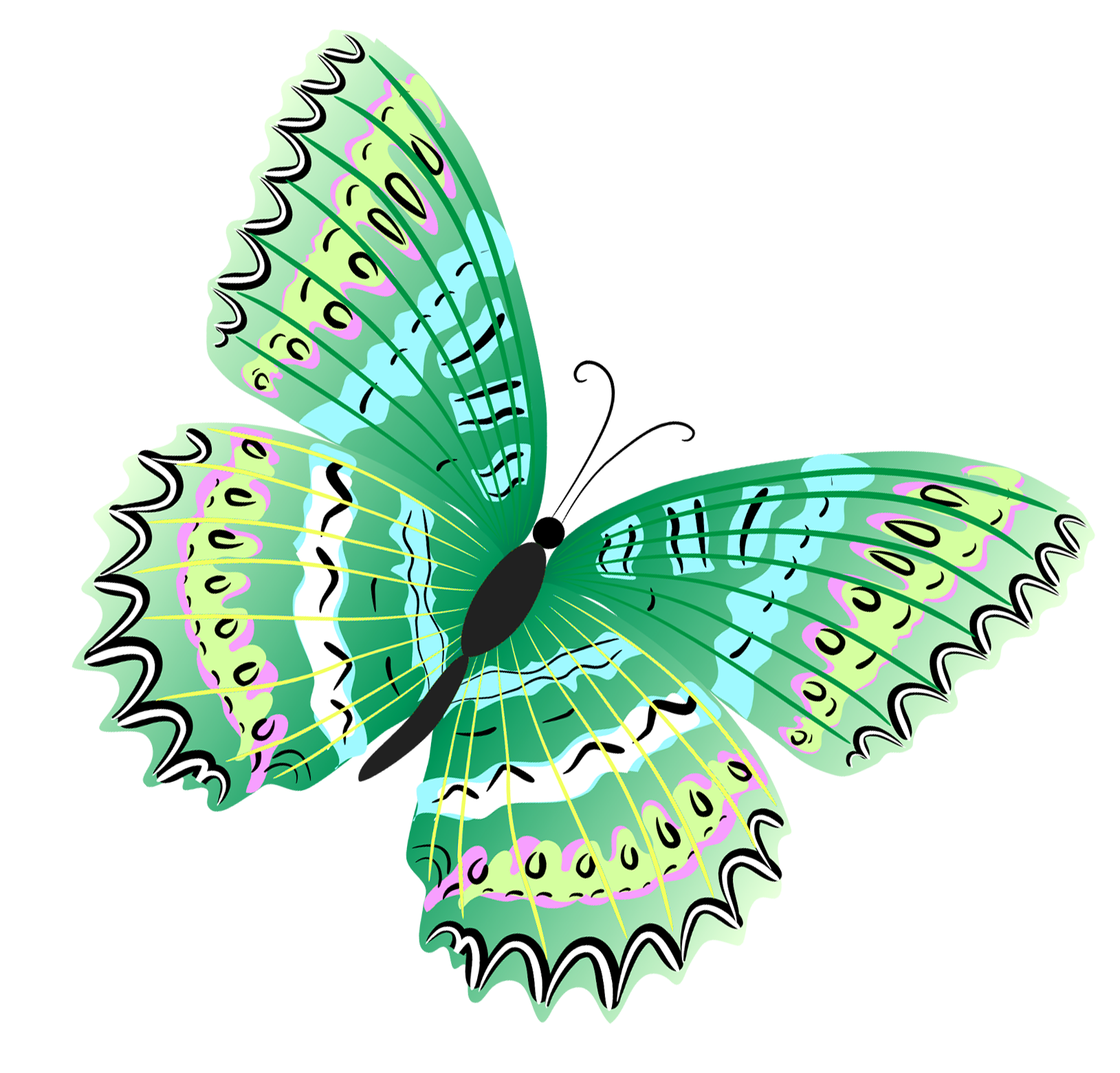 Green Butterfly Png Clipart Green Butterfly Butterfly Art Drawing Butterfly Painting