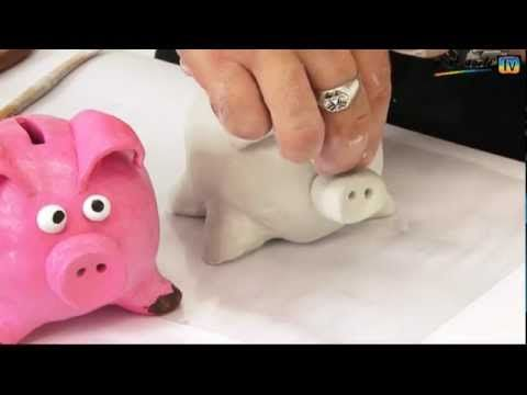 How To Make A Piggy Bank With Air Hardening Clay The Guy Is