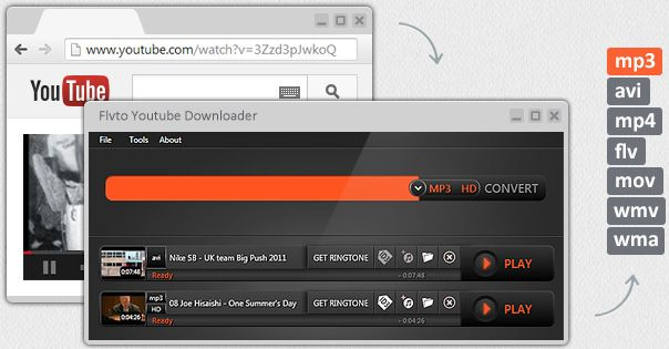 Convert clips from YouTube to MP3, AVI and other formats for FREE - free resume downloader