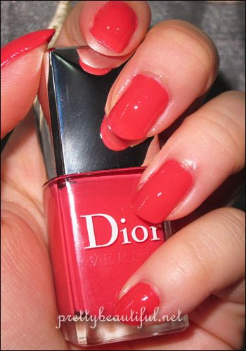 dior lucky nail polish , a little pink a little redlove it