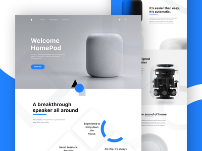 Landing Page Apple Homepod Landing Page Dashboard Design Web Interface