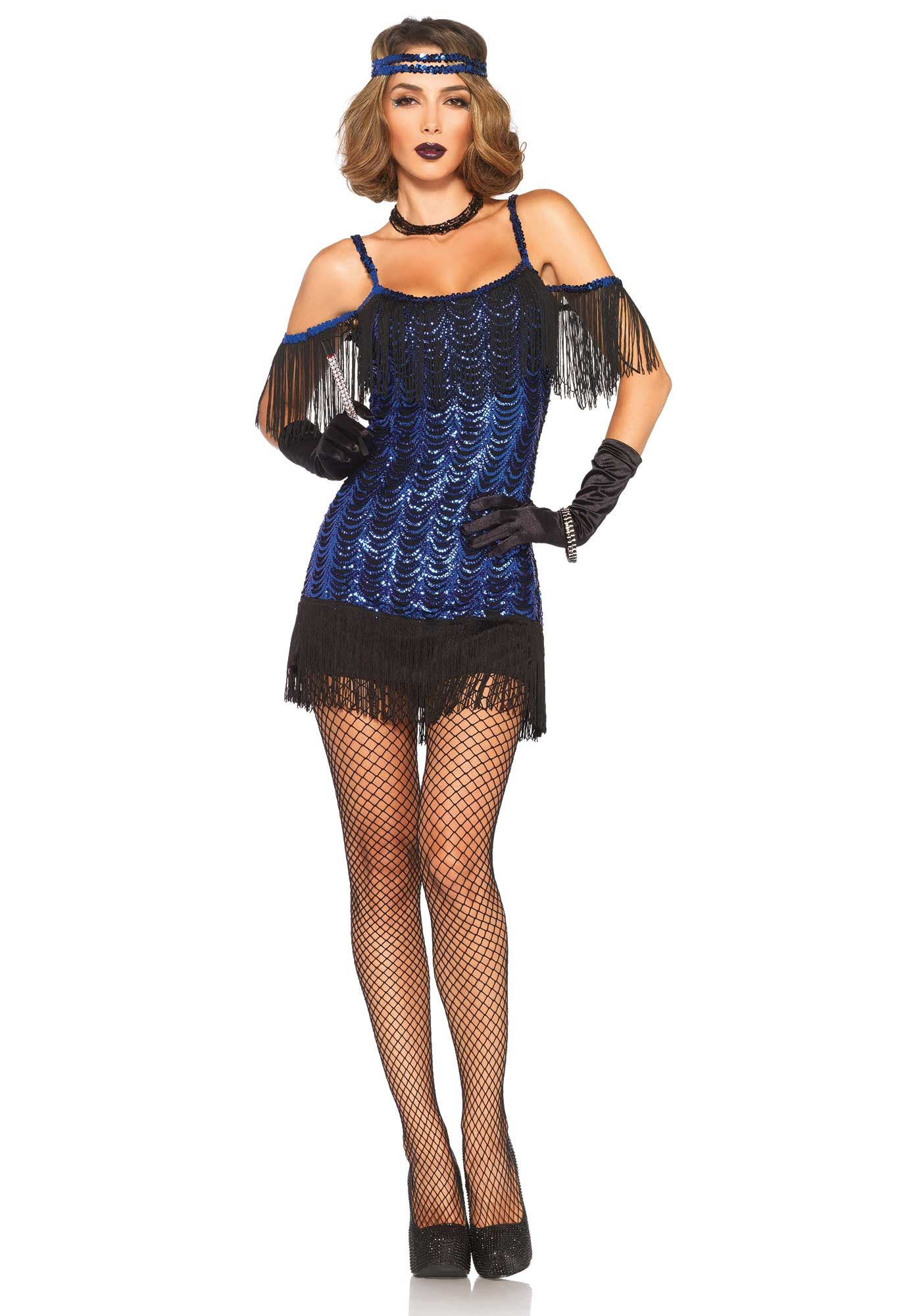 Disfraz charlestón mujer  Este disfraz de charlestón para mujer incluye  vestido y diadema (medias 30dfd2a5c07