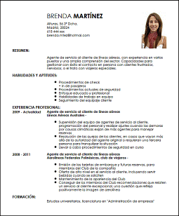 Agente De Servicio Al Cliente En Aerolíneas Modelos De Curriculum Vitae Diseños De Curriculum Vitae Modelos De Cv