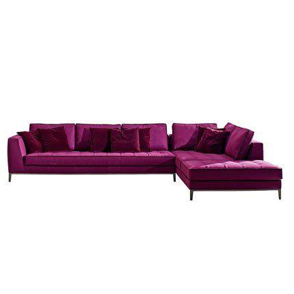 Canapé Lucrezia - Maxalto Canapes - design sofa plat von arketipo mit integriertem regal und beistelltisch