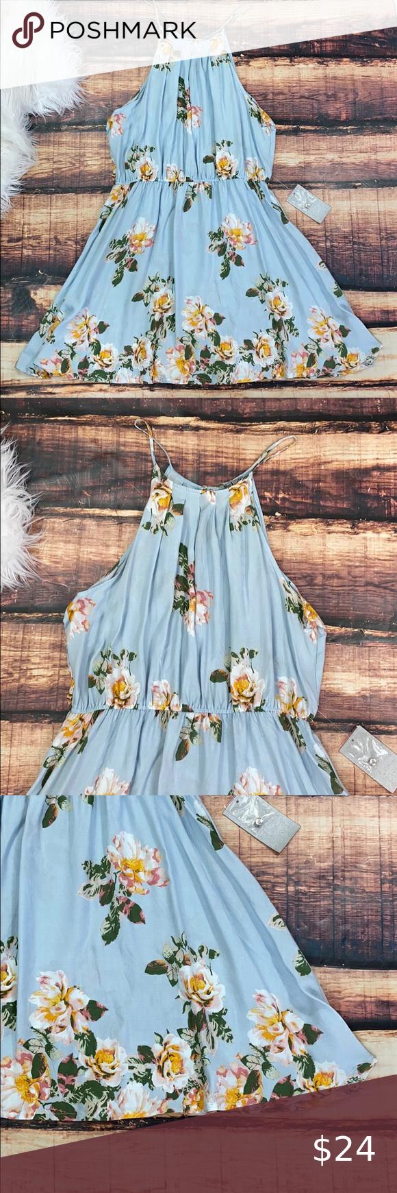 Blue Floral Summer Sun Dress Blue Summer Dresses Light Blue Summer Dress Dresses [ 1740 x 580 Pixel ]