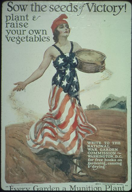 Sow The Seeds Of Victory Plant And Raise Your Own Vegetables Write To The National War Garden Commission Washington D C For Free Books On Gardening Canni Patriotic Posters Propaganda Art Ww1