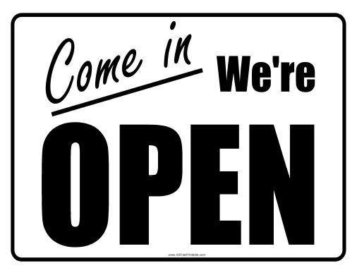 Open Sign Free Printable Open Signs Open Close Sign Open Closed Signs