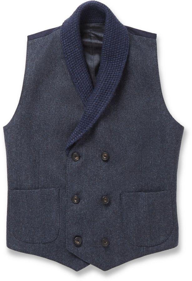 hardy amies herringbone wool shawl collar waistcoat london firm hardy amies proves that formal. Black Bedroom Furniture Sets. Home Design Ideas