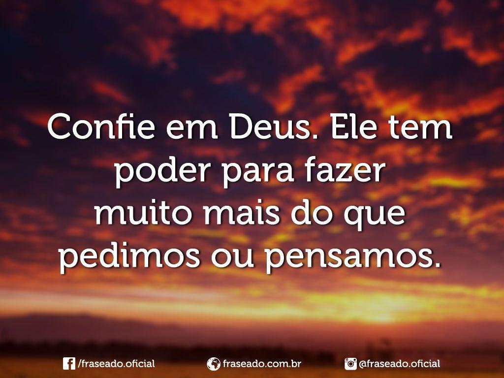 Confie Em Deus, Frases De Deus E