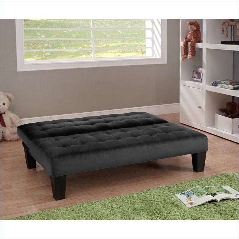 junior click clack futon sofa bed lounger in black microfiber junior click clack futon sofa bed lounger in black microfiber      rh   pinterest