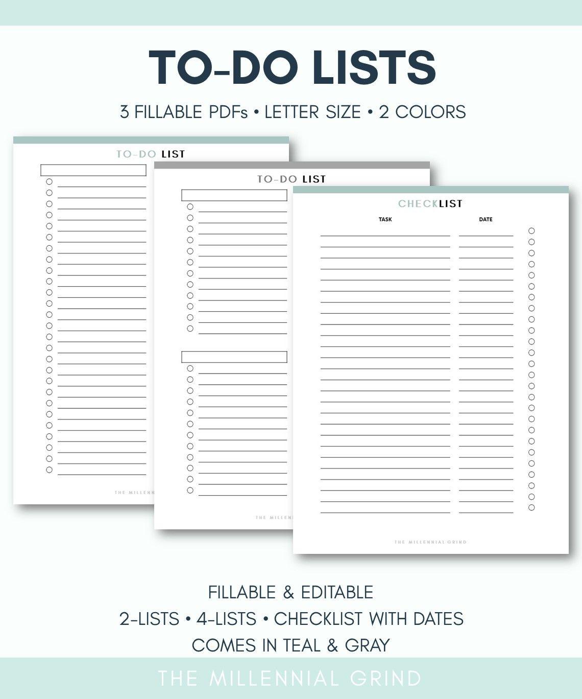 To Do List Printable Page
