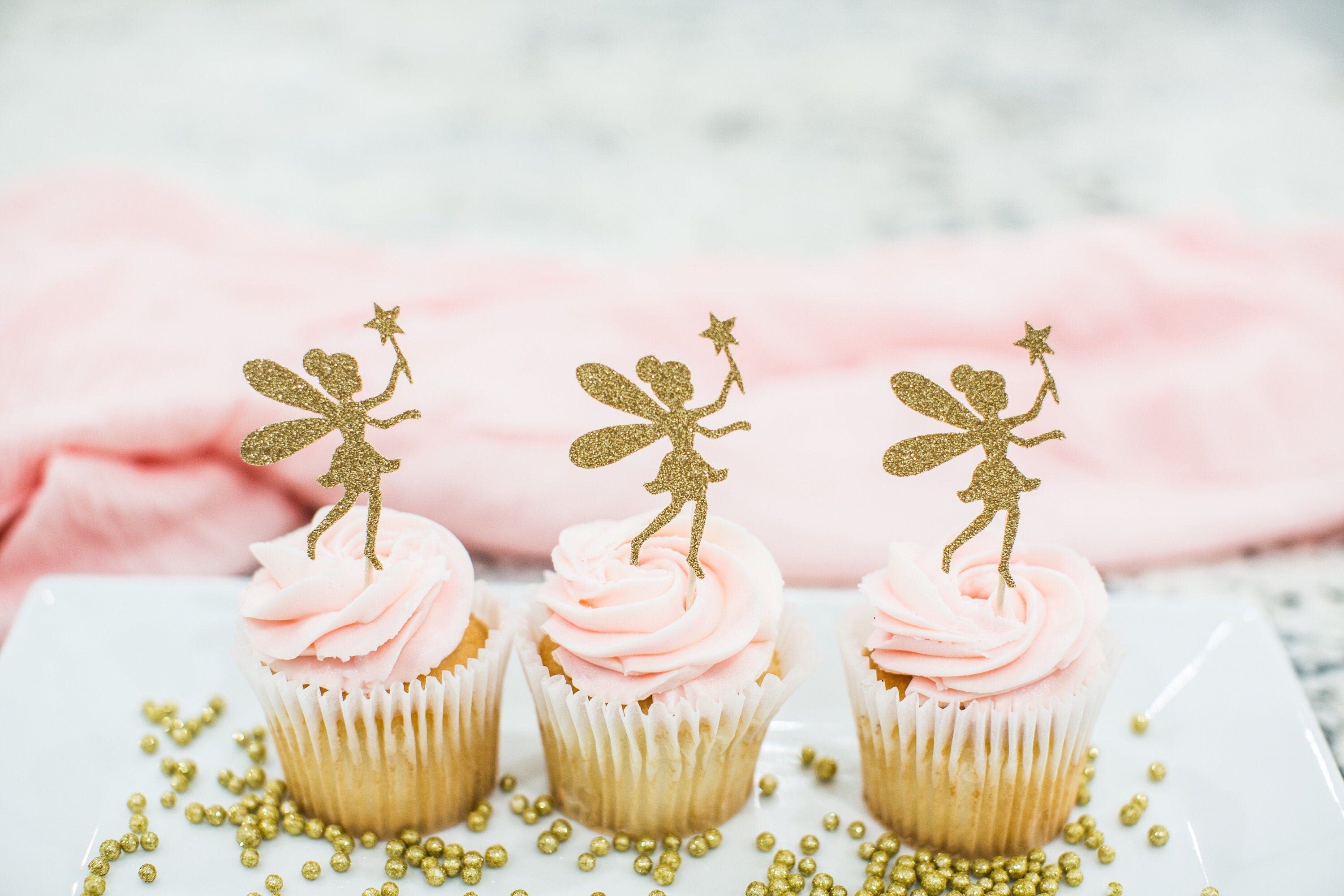 Fairy Cupcake Toppers Fairy Birthday Fairy Party Decorations Fairy Baby Shower Fairy First Birthday Tinkerbell Party Garden Tea Party Decor