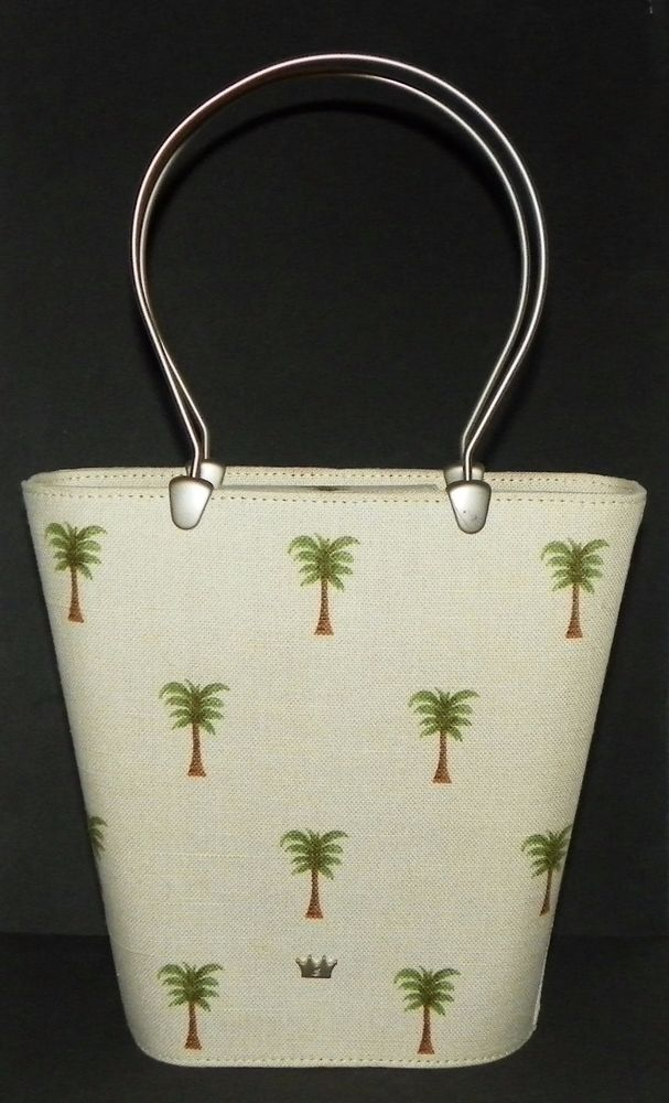 5cf8a23309 Elaine Turner Designs Palm Tree Bucket Bag Purse with Silver Metal Handles  #ElaineTurner #BucketBag