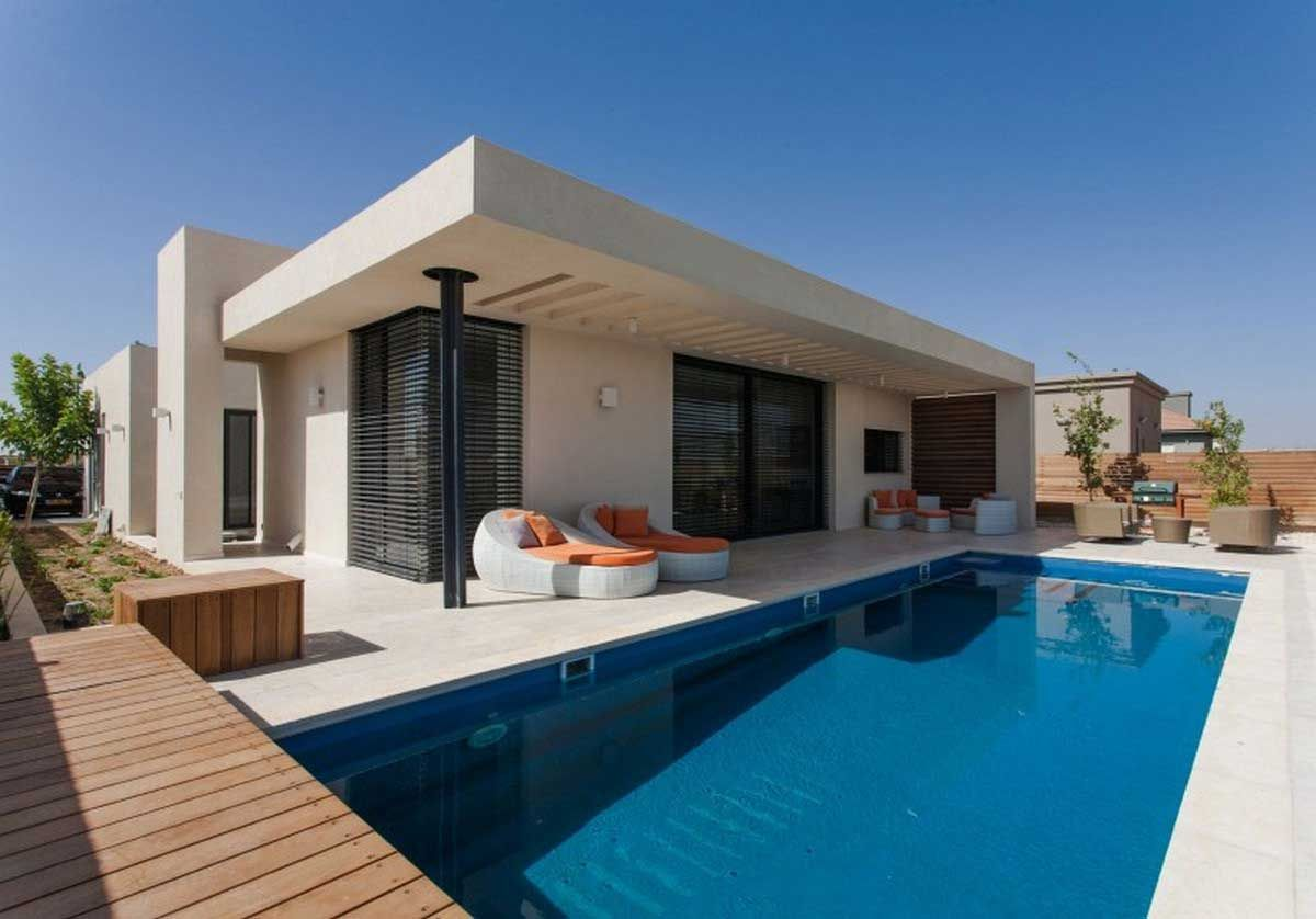 New Concrete Houses Design In A Perfect Cube Structure Pool House Designs Architecture Modern House Design