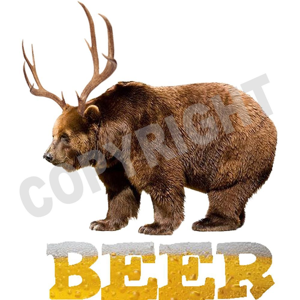 5d5a327fd BEER T Shirt Bear Deer Funny Drinking Hangover T Shirt All Sizes  #TShirtsRule #GraphicTee