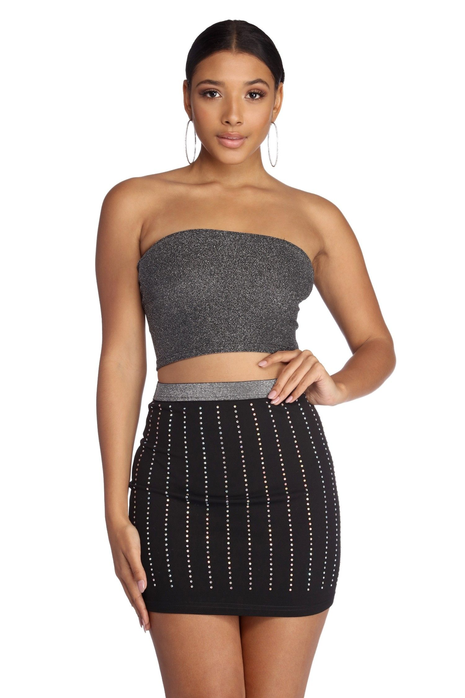 99290d84d7c Midnight Glow Cropped Tube Top in 2019