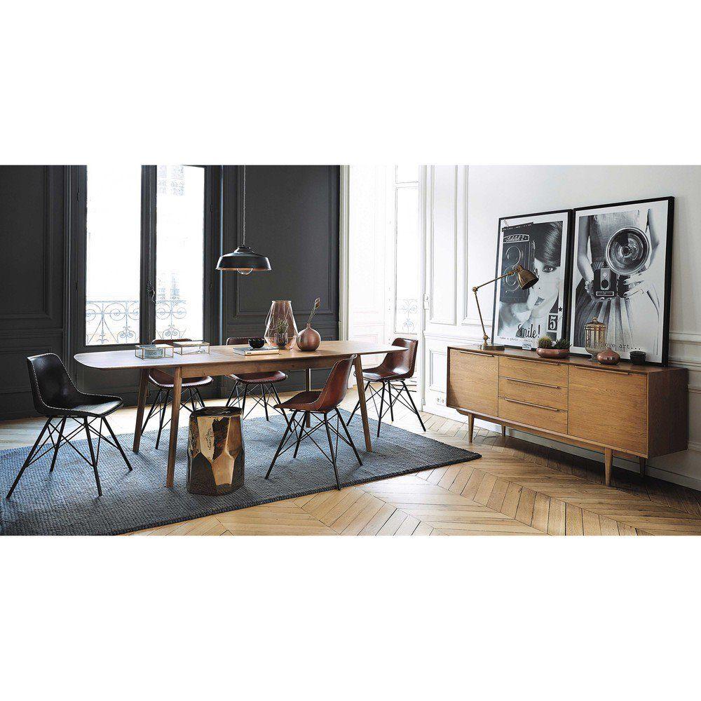 Table salle a manger maison du monde good buffet salle - La salle a manger atelier au style classique chez maisons du monde ...