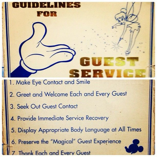 disney guidelines for guest service