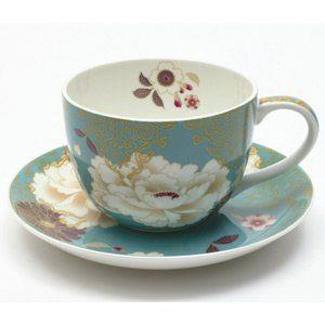 Tea cup-Teal