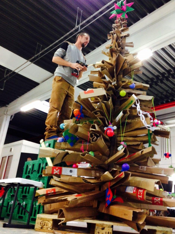 Cardboard Christmas Tree Cardboard Christmas Tree Recycled Christmas Tree H M Christmas Tree