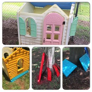 A Day In The Life Of A Sahm Little Tikes Playhouse Makeover Doc Clinic Edition Little Tikes Playhouse Doc Mcstuffins Birthday Party Play Houses
