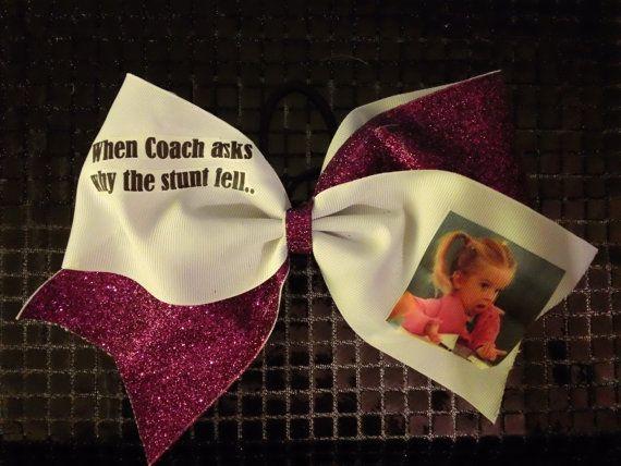 Funny cheerleading bow on etsy cute cheer bows cheer bows cheerleading bows - Cute cheer bows ...