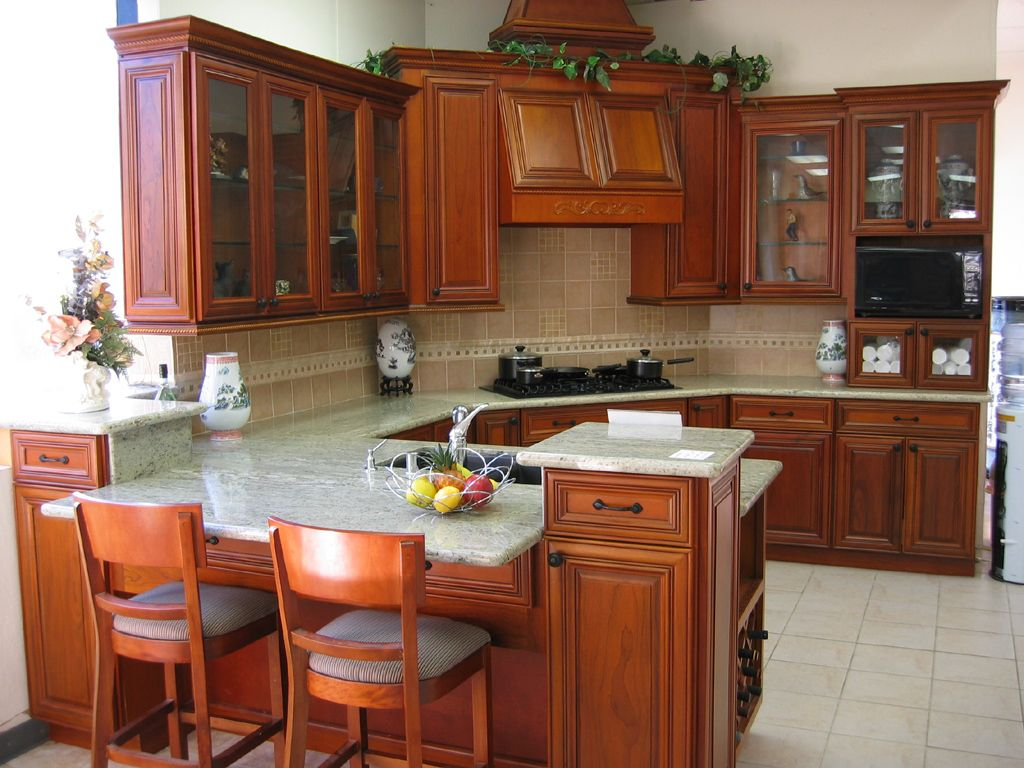 Kitchen designs cherry wood cabinets - Granite Cherry Cabinets Kitchen Following Are Styles We Carry