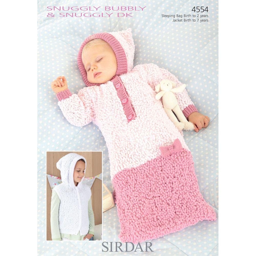 Sirdar Baby Knitting Pattern - 4554 - Jacket, Sleeping Bag - Snuggly ...