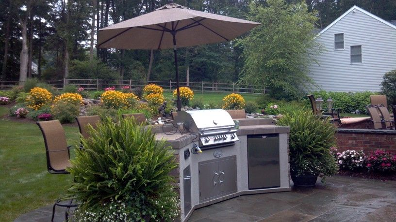 Awesome new kitchen island just installed. Ready to bbq and enjoy the summer!