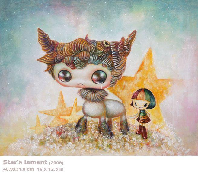 Star's lament  I love the strange dreamlike world painted by Yosuke Ueno