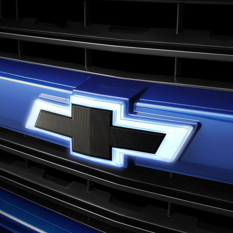 2017 Silverado 1500 Black Bowtie Emblems Illuminated Front And