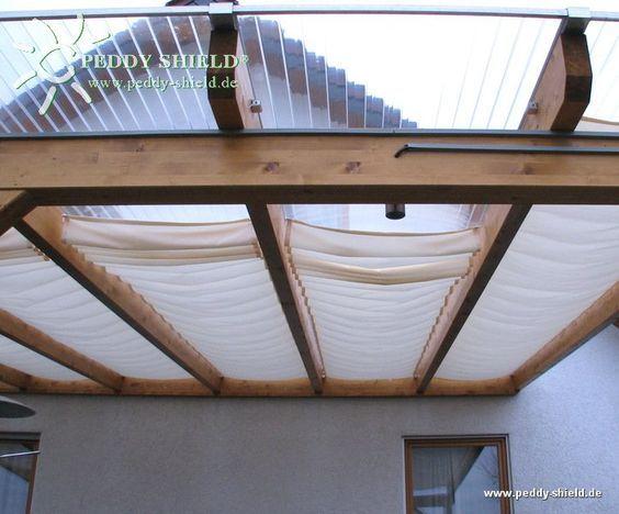 Ombrage Pour Une Terrasse Sans Couverture En Verre Ou En Polycarbonate Couverture Terrasse Terrasse Faite Maison Terrasse Verre